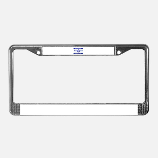 We Support Israel License Plate Frame