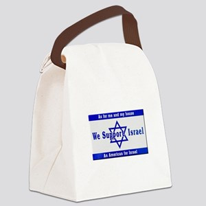 We Support Israel Canvas Lunch Bag