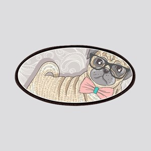 Hipster Pug Patch