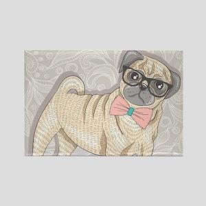 Hipster Pug Magnets