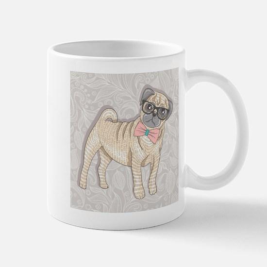 Hipster Pug Mugs