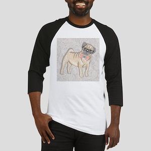 Hipster Pug Baseball Jersey