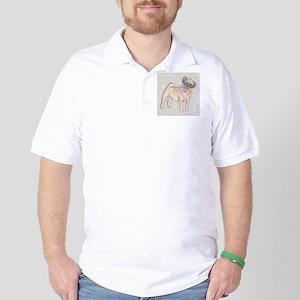 Hipster Pug Golf Shirt