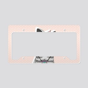 Hipster Cat License Plate Holder