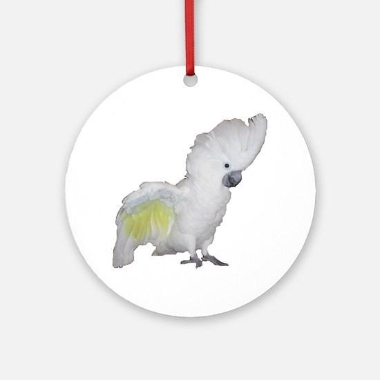 Umbrella Cockatoo Round Ornament