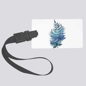 Iridescent Instant Ferns Large Luggage Tag