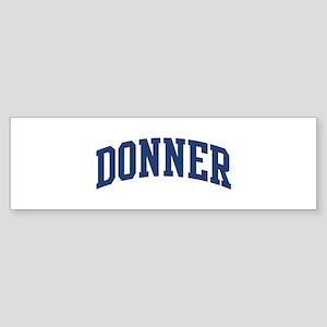 DONNER design (blue) Bumper Sticker