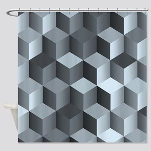 Shades of Grey Stairsteps Shower Curtain