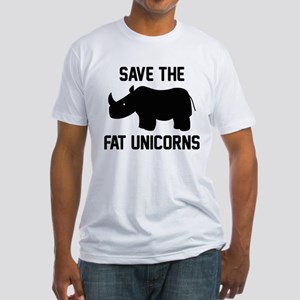 Save The Fat Unicorns Fitted T-Shirt