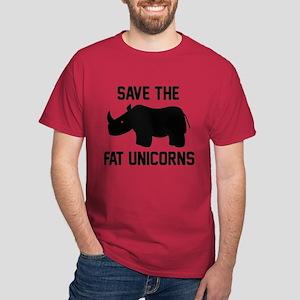 Save The Fat Unicorns Dark T-Shirt