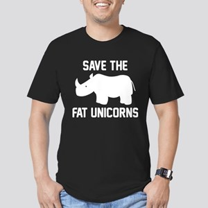 Save The Fat Unicorns Men's Fitted T-Shirt (dark)