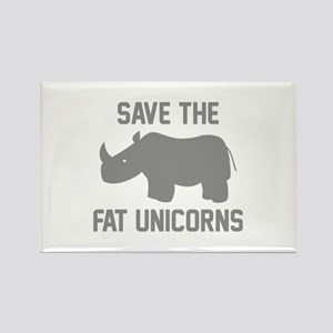 Save The Fat Unicorns Rectangle Magnet