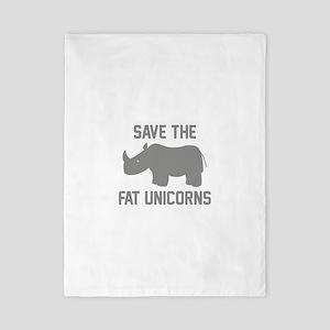 Save The Fat Unicorns Twin Duvet