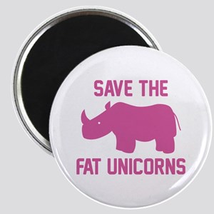 Save The Fat Unicorns Magnet