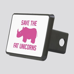 Save The Fat Unicorns Rectangular Hitch Cover