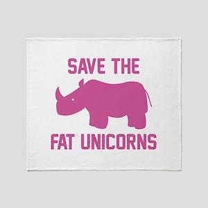 Save The Fat Unicorns Stadium Blanket