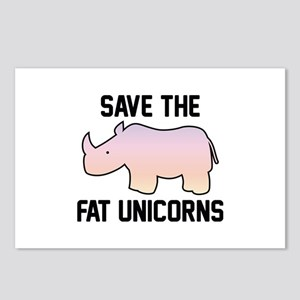 Save The Fat Unicorns Postcards (Package of 8)