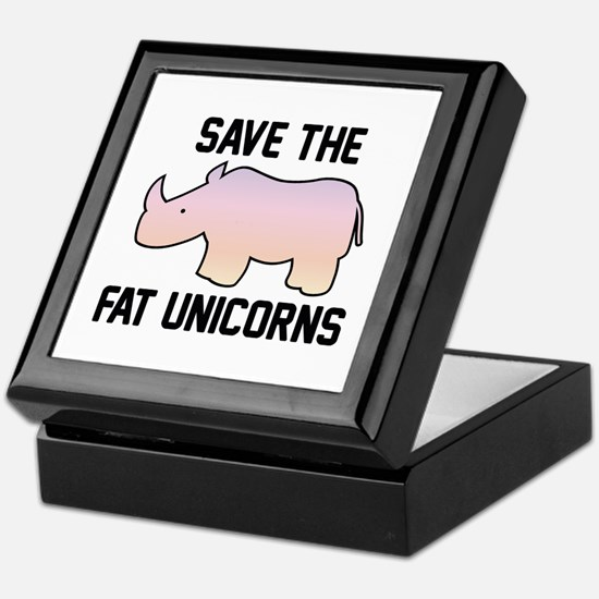 Save The Fat Unicorns Keepsake Box