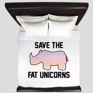 Save The Fat Unicorns King Duvet