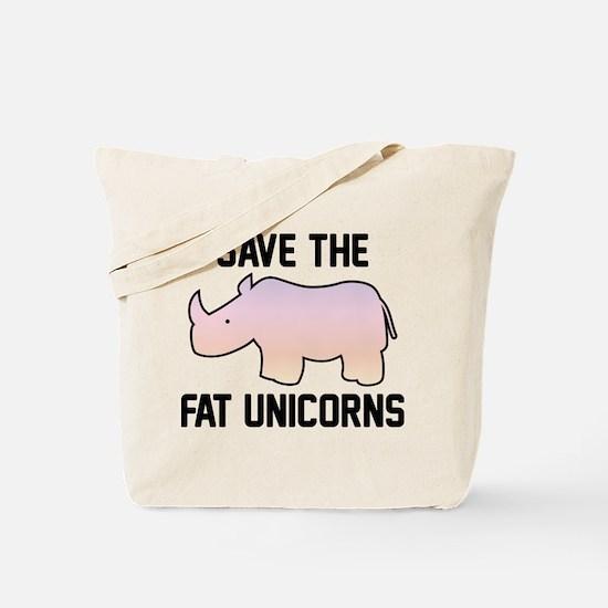 Save The Fat Unicorns Tote Bag