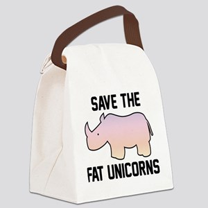 Save The Fat Unicorns Canvas Lunch Bag
