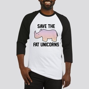 Save The Fat Unicorns Baseball Jersey