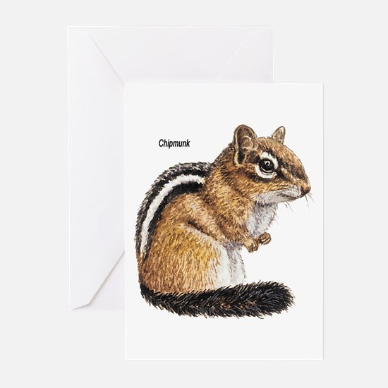 Ground Squirrel Chipmunk Greeting Cards (Package o
