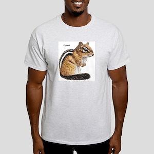 Ground Squirrel Chipmunk (Front) Ash Grey T-Shirt
