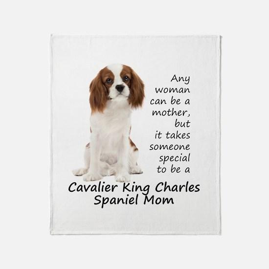 Spaniel Mom Throw Blanket