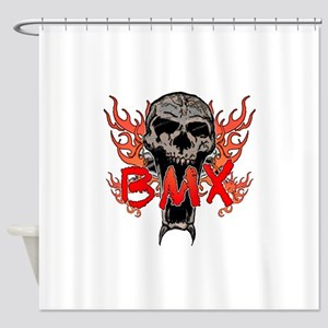 BMX skull 2 Shower Curtain
