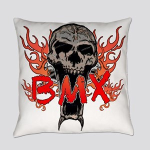 BMX skull 2 Everyday Pillow