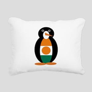 Penguin of Niger Rectangular Canvas Pillow