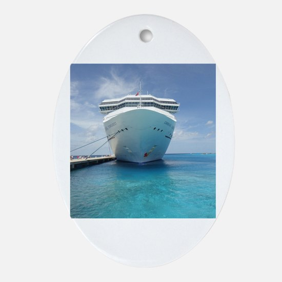 Funny Cruise Oval Ornament