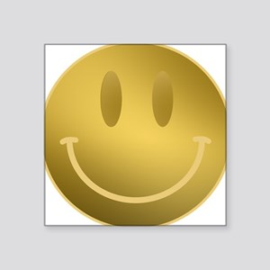 GOLD Smiley Gold Outline Sticker
