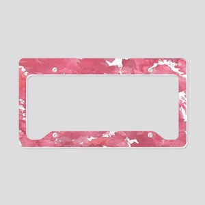 Watercolor Pink Abstract Bed License Plate Holder