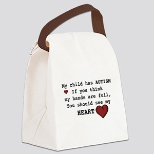 Full heart Canvas Lunch Bag