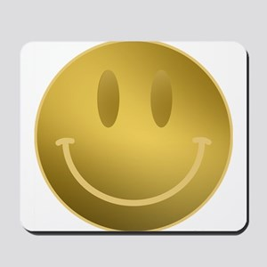 GOLD Smiley Gold Outline Mousepad