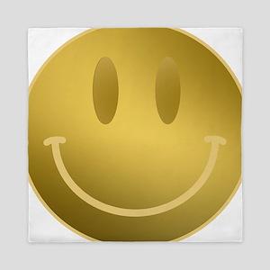 GOLD Smiley Gold Outline Queen Duvet