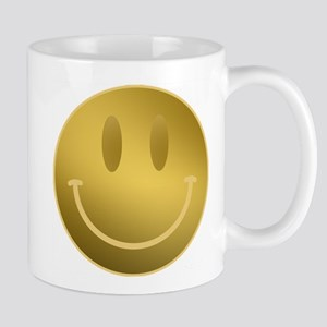 GOLD Smiley Gold Outline Mugs