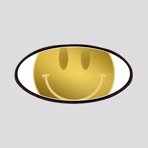GOLD Smiley Gold Outline Patch