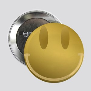 "GOLD Smiley Gold Outline 2.25"" Button"