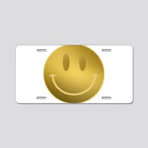 GOLD Smiley Gold Outline Aluminum License Plate