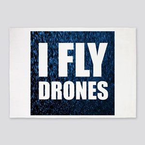 I Fly Drones 5'x7'Area Rug