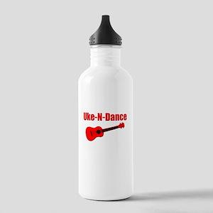 Red Ukulele Water Bottle