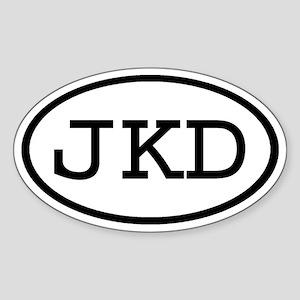 JKD Oval Oval Sticker