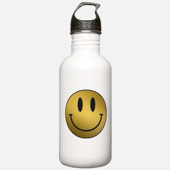 GOLD Smiley black outl Water Bottle