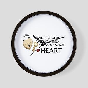 Unlock your heart Wall Clock