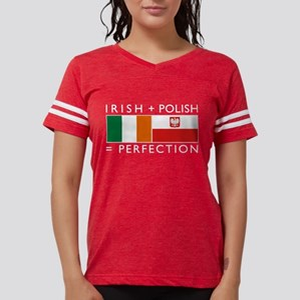 Irish Polish flags Women's Dark T-Shirt