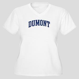 DUMONT design (blue) Women's Plus Size V-Neck T-Sh