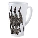Jeweled Hounds 17 Oz Latte Mug